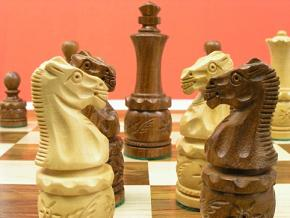 Barrel Carved Double Weighted Chess Pieces