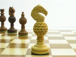 Globe with 3.5 inch King Chess Pieces