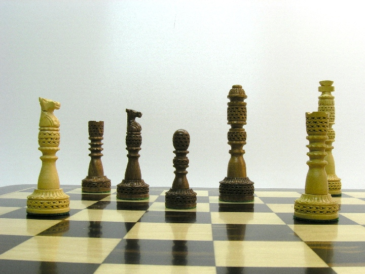 Millenium Fret Tower Chess Pieces