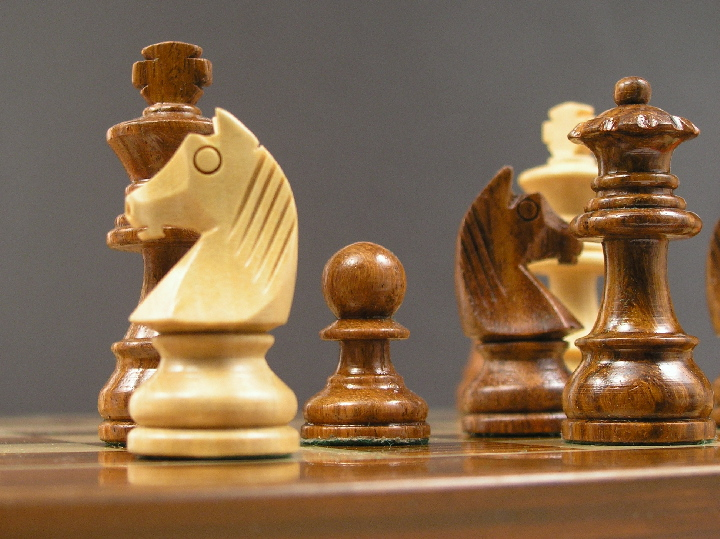 Beautiful 10 inch X 10 inch Chess Pieces with Board Chess Set