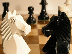 Black and White Staunton Charlotte Chess Pieces
