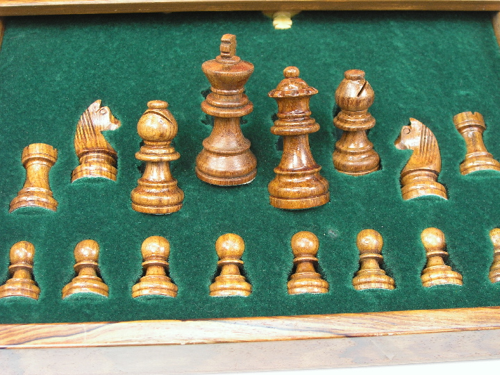 Magnetic Luxury Travel with Board Chess Set 12 inch Squared