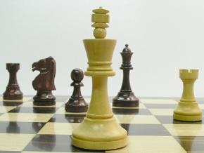 Monarch Staunton Rosewood 4 inch King Chess Set