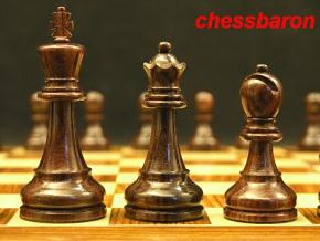 The Morgan - Double Weighted Rosewood Staunton Chess Set