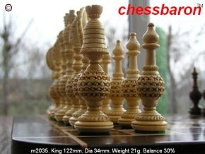 Hezekiah Fretwork 5 inch King Chess Pieces