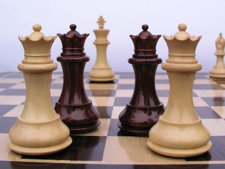King Edward 3 inch King Triple Weight Budrose Staunton Chess Pieces