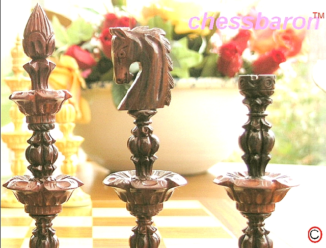 Song of Solomon Bud Rosewood Chess Pieces