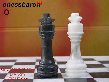 Black and White Marble Chess Set - Beautiful 16 Inch Marble Chess Board and Case Included