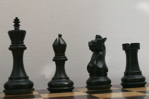 New! The Ebonised Malone Chess Pieces