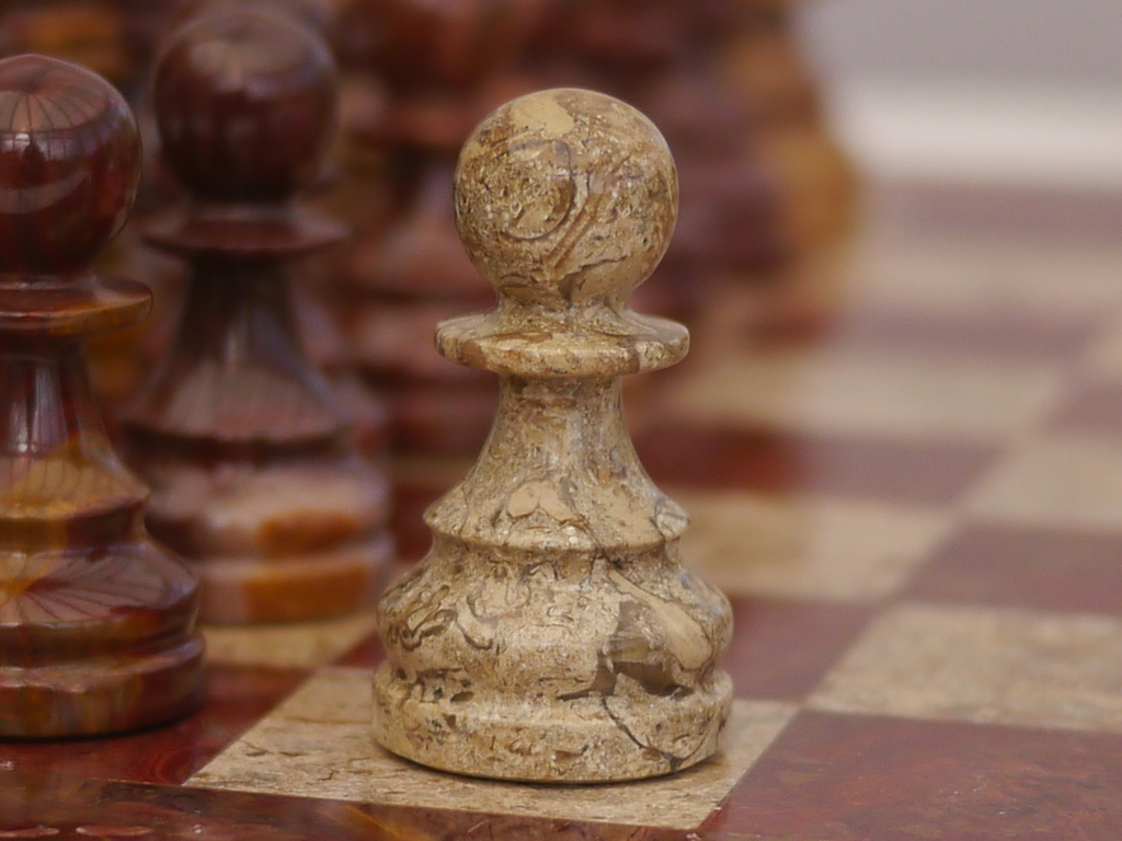 Coral and Red Marble Chess Set with Marble Board
