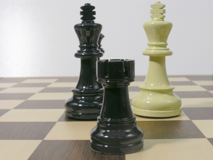 American Staunton in Deep Blue and Ivory Chess Pieces