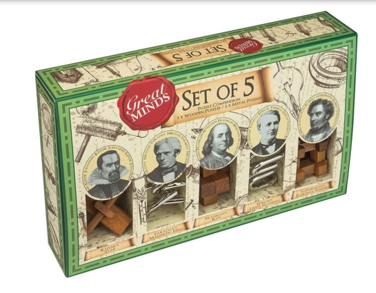 Set of Five Great Minds - Wooden Puzzles
