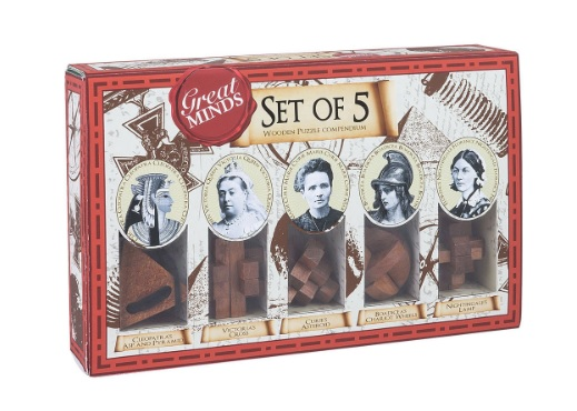 Great Women - Set of Five Wooden Puzzles