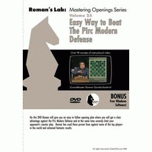Romans Chess DVD - Lab Vol 25 - Easy Way to Beat The Pirc Modern Defense