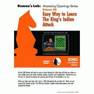 Romans Chess DVD - Lab Vol 28 - Easy Way to Learn The King's Indian Attack
