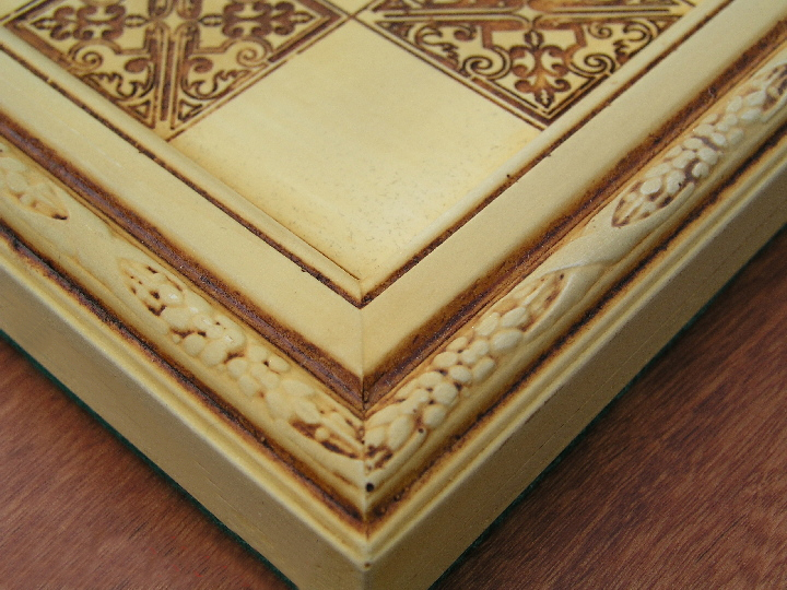 Victorian Ivory Chess Board 1 5 Inch Squares 0 1278 426100