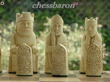 Chess Baron Isle of Lewis Chess Pieces