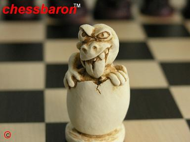Dinosaur Humour Chess Set