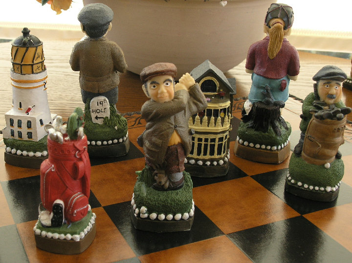 Mascott Chess - Golf Hand Painted Chess Set