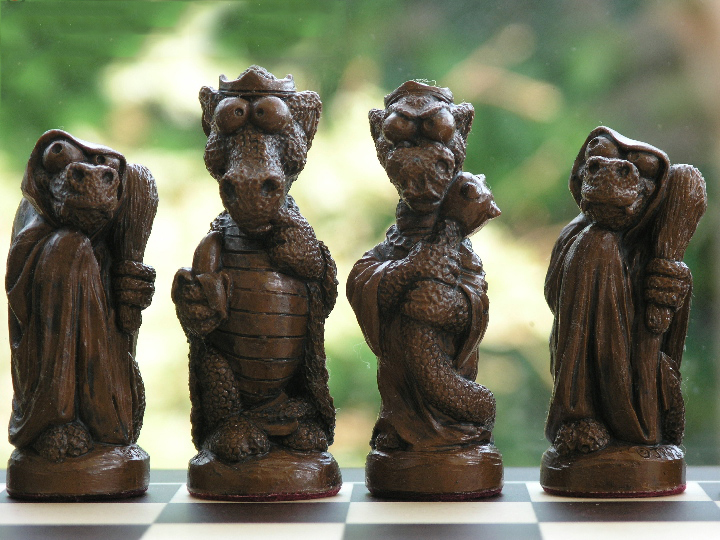 George and the Dragon Theme Chess Set