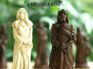 Small King Arthur Chess Set