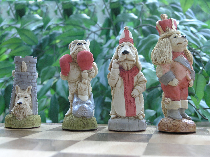 Mascott Chess - Hand Painted Cats and Dogs Chess Set