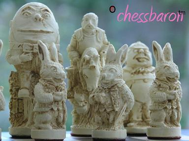 New Alice in Wonderland Chess Set