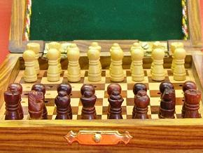 Square Peg Travel 4 inch x 4 inch Chess Set