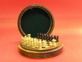 Round Travel 5 inches Diameter Chess Set