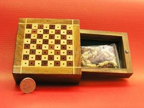 Square Travel 4 x 4 with side drawer Chess Set