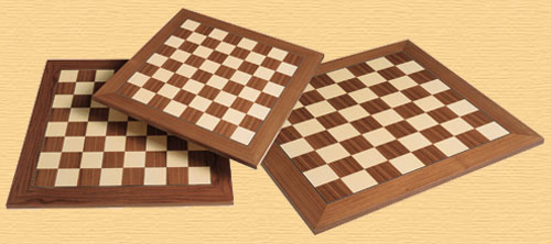Walnut and Sycamore 45cm (1.75 inch) Chess Board