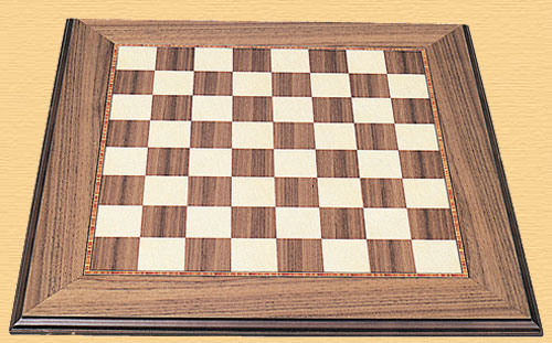 Walnut and Sycamore 50cm (2 inch) Luxury Chess Board