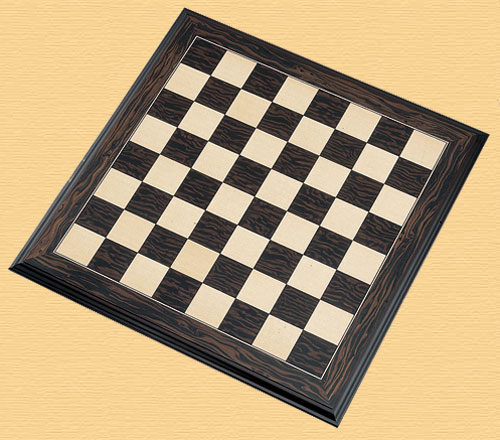 Ebony and Maple 50cm (2 inch) Luxury Chess Board (H501)