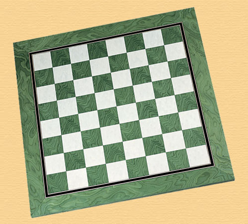 Green High Quality Chess Board 2 inch Squares