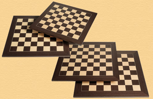 Deluxe Wengue and Maple Chess Board 55cm (2.15inch)