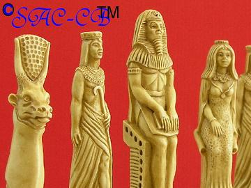 Egyptian Theme Chess Set