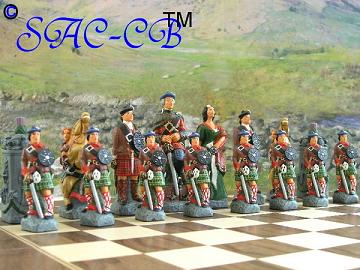 Battle of Culloden Hand Painted Chess Set - Deluxe