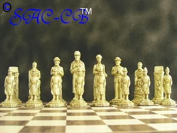 Sherlock Holmes Chess Pieces