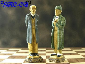 Sherlock Holmes Hand Decorated Chess Pieces