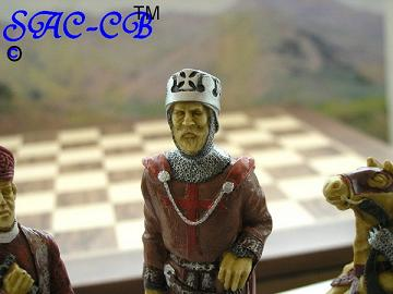 The Crusades Hand Decorated Chess Set