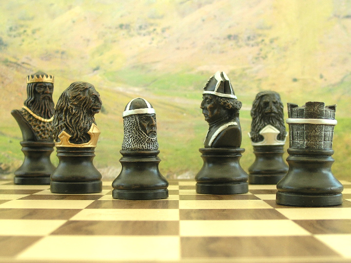 Hand Painted Richard the Lionheart Chess Set