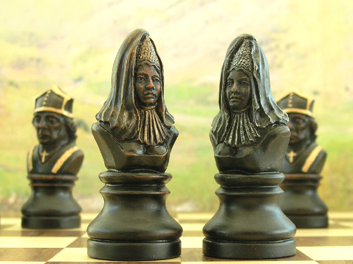 Hand Painted Richard The Lionheart Chess Set 0 1278 426100
