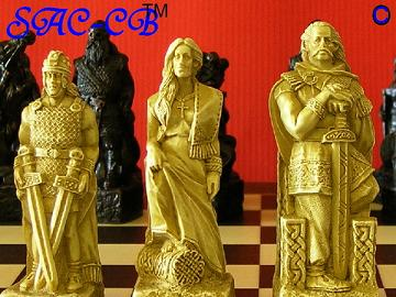 Celtic Chess Pieces