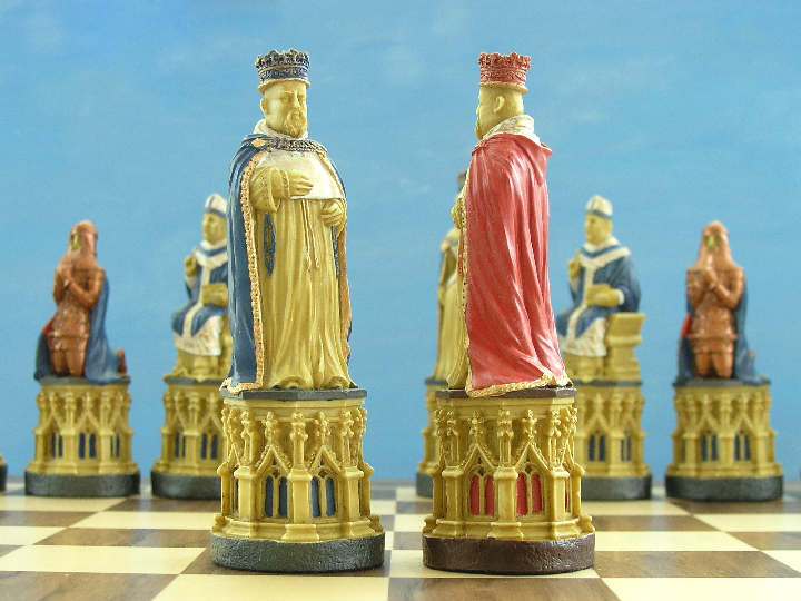 Hand Painted Canterbury Cathedral Chess Pieces
