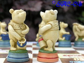 Hand Painted Winnie the Pooh Chess