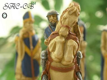 Battle of Bannockburn Hand Decorated Chess Set