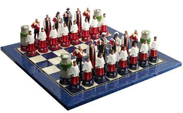 Fully Hand Painted Queens Diamond Jubilee Chess Set