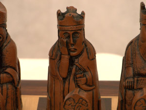 ChessBaron Deluxe Isle of Lewis Chess Pieces with Extra Berserker