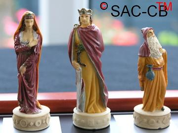 Hand Painted Camelot including Board (Economy Range 2 of 8)