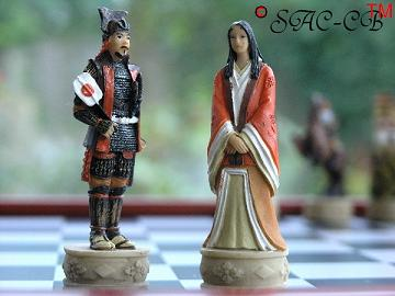 Hand Painted Samurai including Board (Economy Range 3 of 8)
